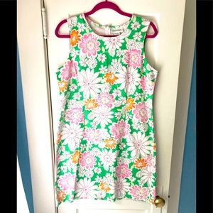 Chadwick's 60s inspired cotton sheath floral dress